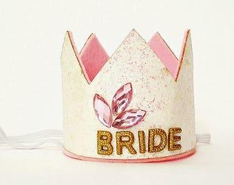 Bachelorette Party Bride Crown, Glitter Crown, Bride Crown Bachelorette Party , Bride Headband,Bridal Crown,Bachelorette Party Crown
