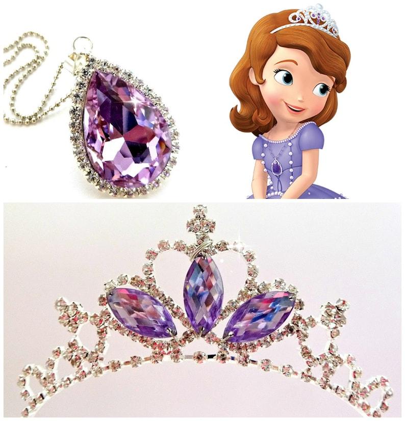 13aaceb2c48d7 Sofía la primera Tiara y mágico amuleto Princesa Sofía corona