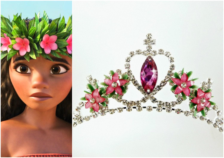 Moana Crown Moana Flower Tiara Flower Headband Moana Etsy