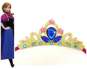 Frozen Princess Anna Elastic Tiara, Baby Frozen Birthday Crown, Princess Elastic Crown, Anna Birthday Tiara, Adults Princess Anna Crown
