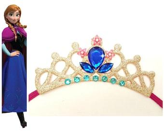 Frozen Princess Anna Tiara, Adults Princess Anna Crown Tiara , Princess Anna Birthday Crown, Princess Elastic Crown, Anna Birthday Tiara