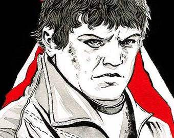 Game of Thrones - Ramsay Bolton portrait original ink drawing
