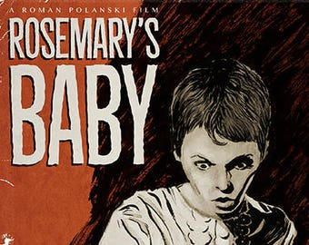 Roman Polanski ROSEMARY'S BABY horror movie poster full colour art print