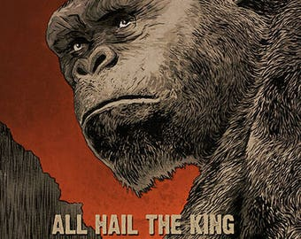 KONG - Skull Island movie poster - full colour art print