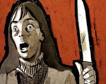 Stanley Kubrick THE SHINING Stephen King horror movie poster full colour art print
