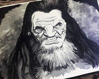 Game of Thrones - Wun Wun the Giant original ink drawing