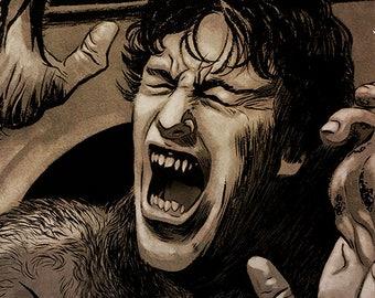 An American Werewolf in London movie poster full colour art print