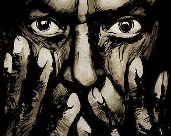 Miles Davis portrait - A4 colour art print