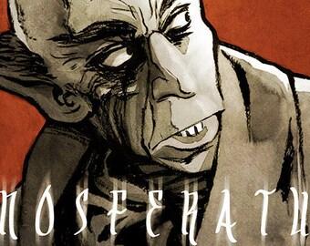 Nosferatu movie poster full colour art print