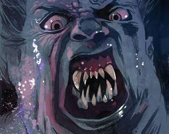 The Thing colour art print John Carpenter Horror