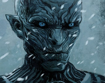 Game of Thrones - Hardhome - The Night's King A4 colour art print