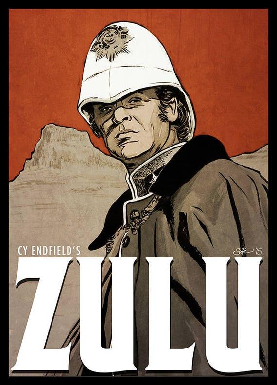 Zulu Movie Poster Full Colour Art Print Etsy