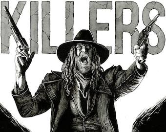 PREACHER - Saint of Killers original A3 ink drawing portrait