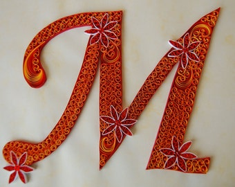 Quilled Letter M