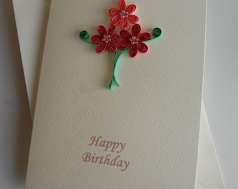 """Quilled card """"Happy Birthday"""""""