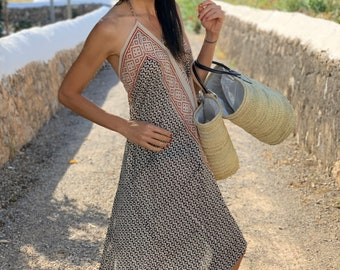 Ibiza TT04Tunic Summer dress,Sexy Dress,Summer Beach Cover Ups,Mothers Gift Miami,Holiday,Bridesmaid Dress