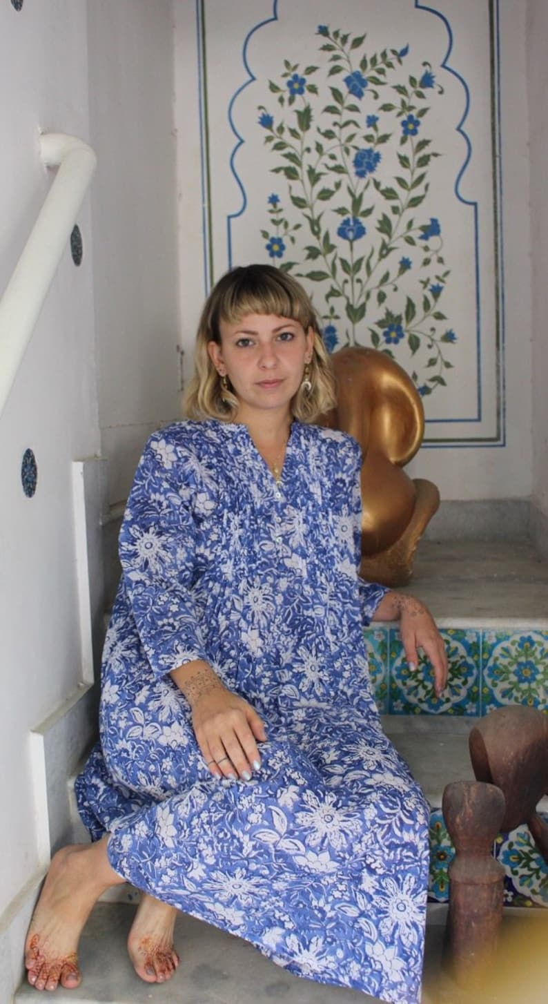 Zazi dress Corn flower blue