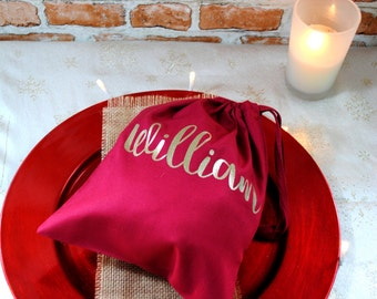 Christmas personalised gift bags small medium large