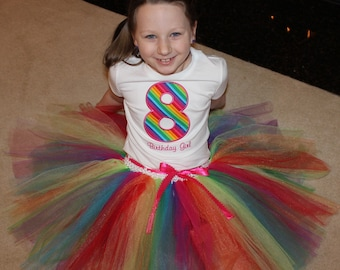 Size 8 birthday rainbow outfit