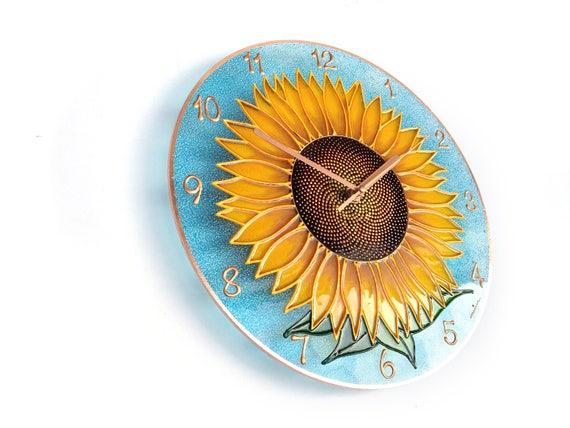 Dekor Sonnenblume Sonnenblume Uhr Blume Sonne Kunst Natur | Etsy