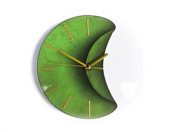 Wanduhr Grün kleine wanduhr grün grün dekor stille uhr grüne wanduhr | etsy