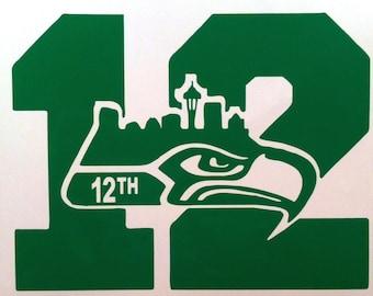Seattle Seahawks 12th Man vinyl decal