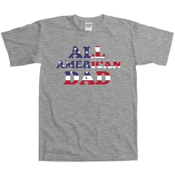 e9b80642 Father's Day All American Dad T-Shirt Gifts For Youth   Etsy