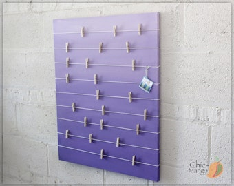 girls memo board Bulletin Board Memo Holder Purple Ombre Kids Room Decor