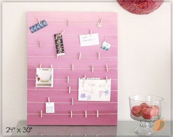 girls memo board Bulletin Board Memo Holder Purple Ombre Doll Clothes