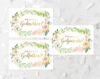 Godparents invite Etsy