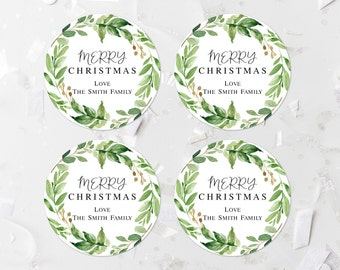 christmas labels etsy