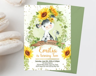 cow invitations etsy