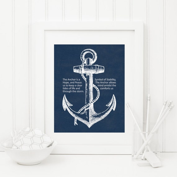 graphic relating to Anchor Printable known as Anchor Printable Quotation Print Nautical Wall Artwork Army Anchor Print Inspirational Wall Artwork Constructive Quotation Wall Artwork Seashore Concept Ocean Wall Artwork