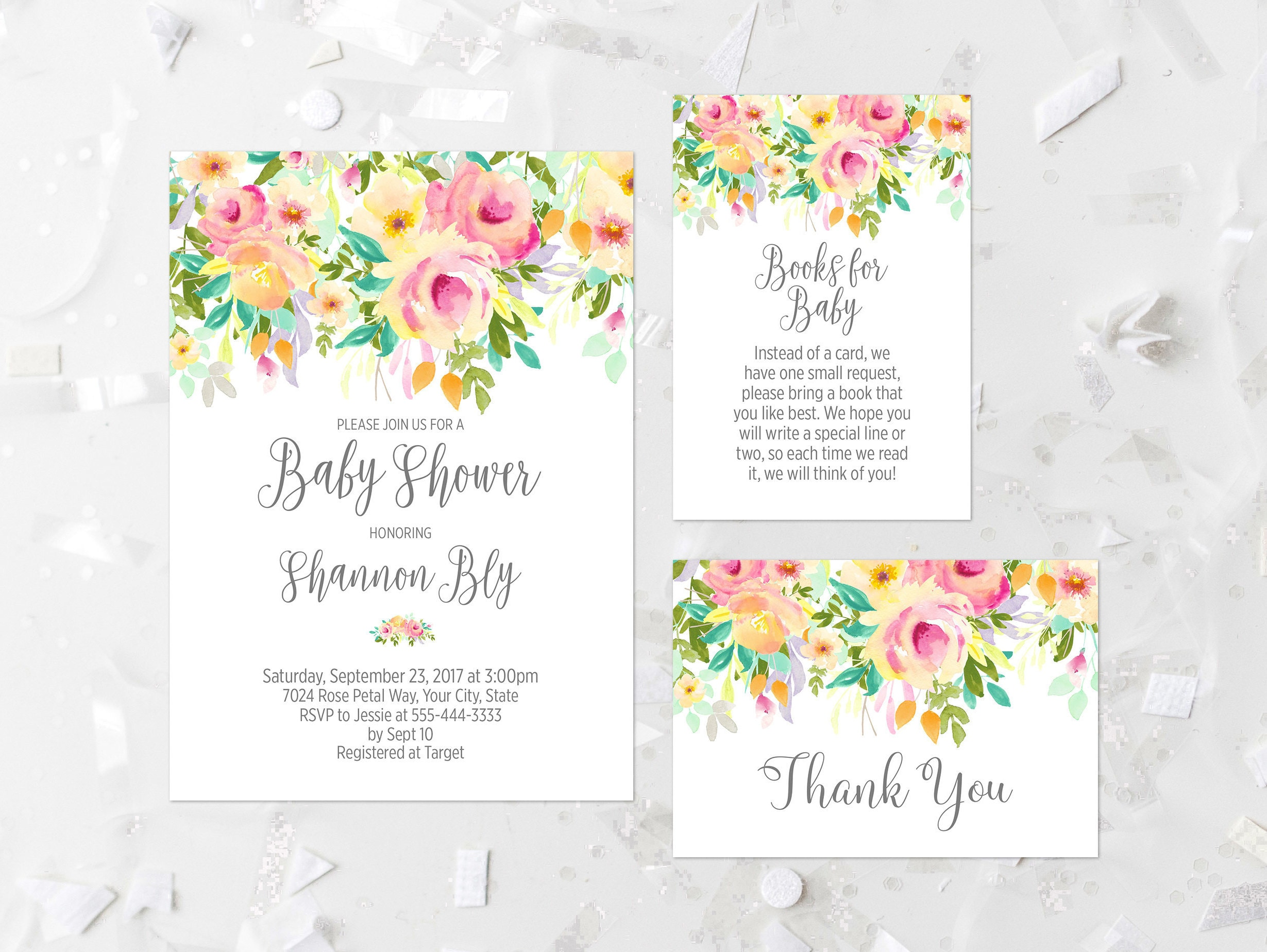 Bohemian Baby Shower Invitation Printable Shabby Baby Shower Etsy
