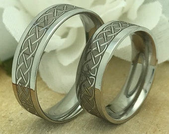 His + Hers Celtic Ring Set