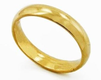 Gold Plated Pipe Cut Ring