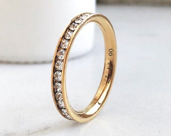 Rose Gold Hers + Hers Eternity Ring Set
