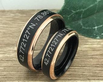 King + Queen Titanium Ring Set