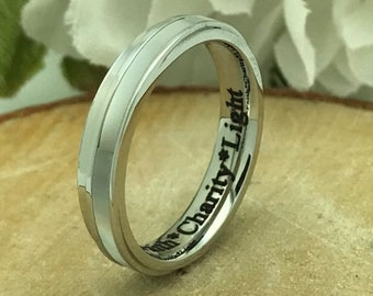 Skinny Ring,Stainless Steel Ring,Mother Of Pearl Ring,Custom Promise Ring,Promise Ring for Her,Purity Ring,Coordinates Ring