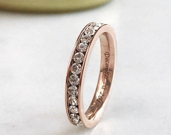 Rose Gold Stainless Steel Eternity Band