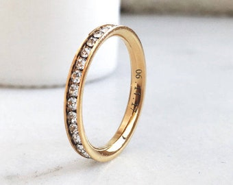 Gold Stainless Steel Eternity Band