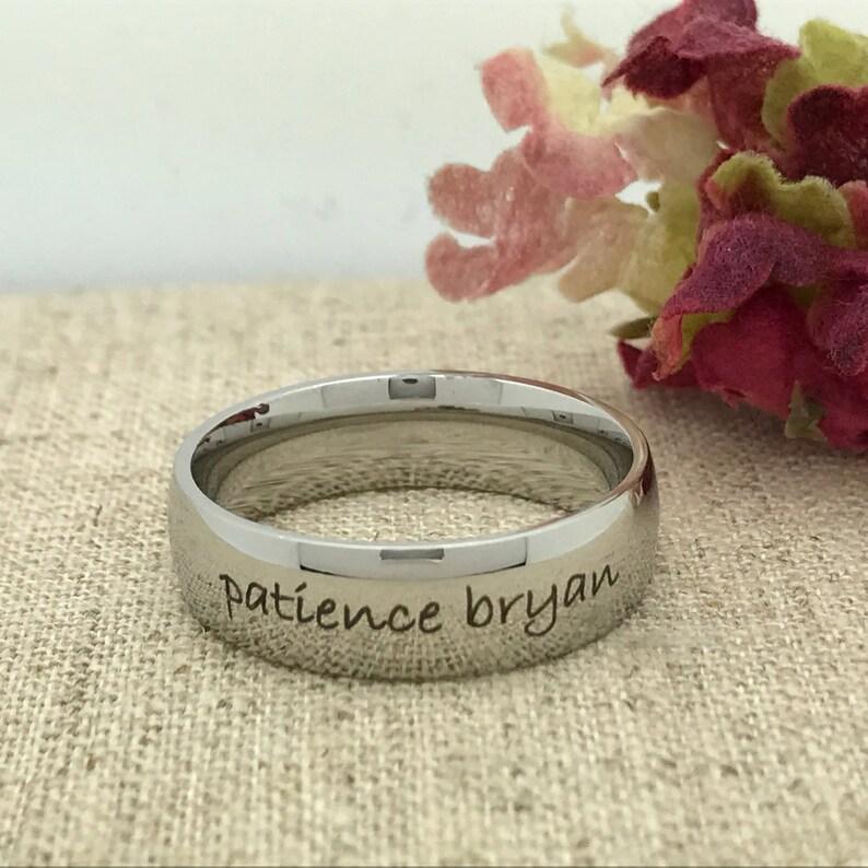 Promise Ring -TRB155 Personalized Custom Engraved TItanium Wedding Ring Anniversary Ring Free Engraving 7mm Titanium Ring