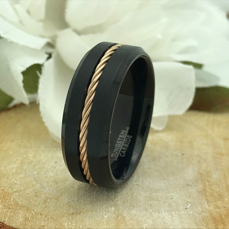 Father/'s Day Gift Men/'s Wedding Band Brushed Finish Tungsten Ring 8mm Tungsten Wedding Ring Comfort Fit Tungsten Ring Band