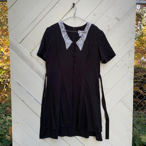 Plus size Wednesday Addams dress