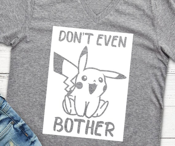Shirt Svg Dxf Png Pikachu Pokemon Shirt Design Vektor | Etsy
