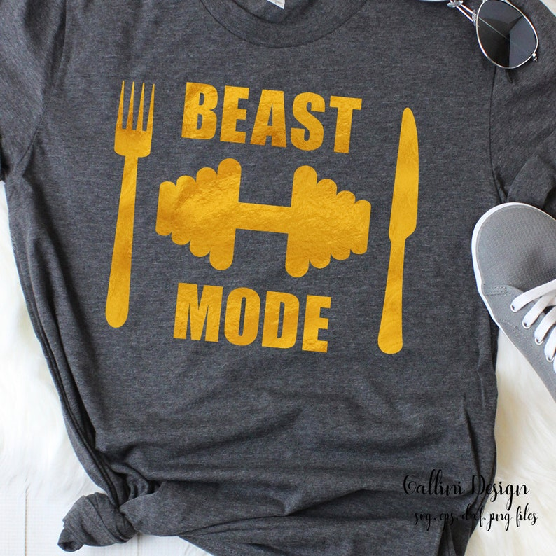 Beast Mode Svg Gym Svg Files Sports Mom Gym Shirts Design Beast Mode Shirt  Svg Files Workout Svg Workout Shirt Svg Gym Fitness Dxf Barbell