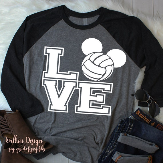 Love Volleyball Svg Cut Files Volleyball Mom Volleyball Ball Etsy