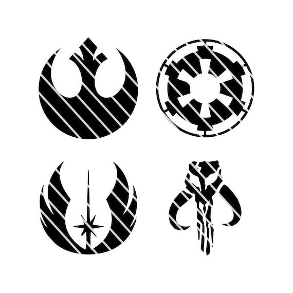 Star Wars Alliance Empire Jedi Mandalorian Faction Symbols Etsy