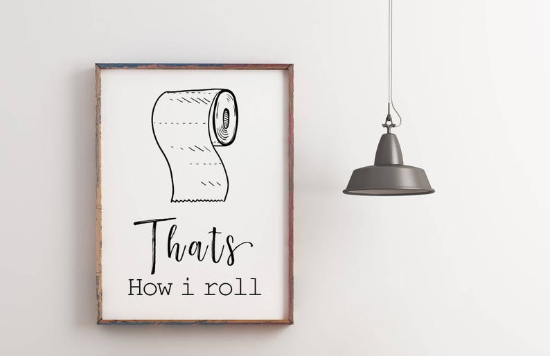 Funny Bathroom Art Printable Art Bathroom Wall Decor Etsy