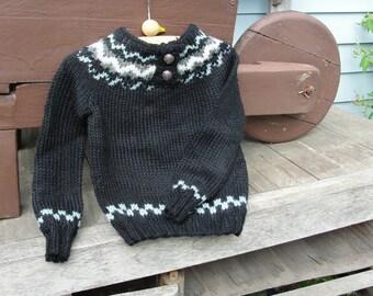 Black Fairisle Sweater